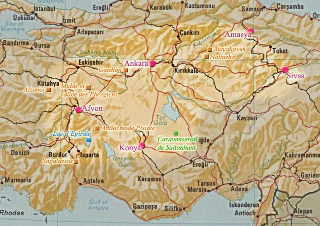 Ville De Turquie Carte