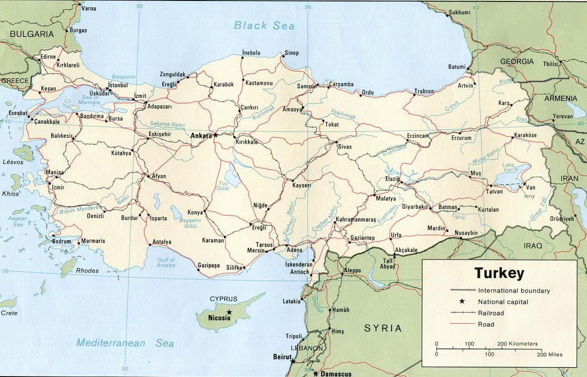 carte-routiere-turquie