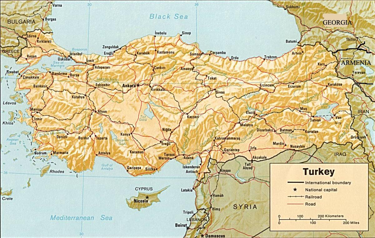 Carte de turquie - La carte de l empire ottoman ...